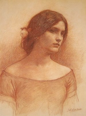 Waterhouse - Study for The Lady Clare
