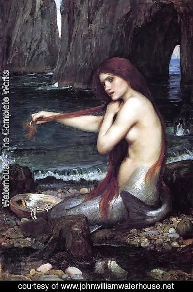 Waterhouse - A Mermaid  1900