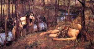 Waterhouse - A Naiad  1893  also known as Hylas with a Nymph