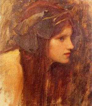 Waterhouse - A Naiad, study 1893