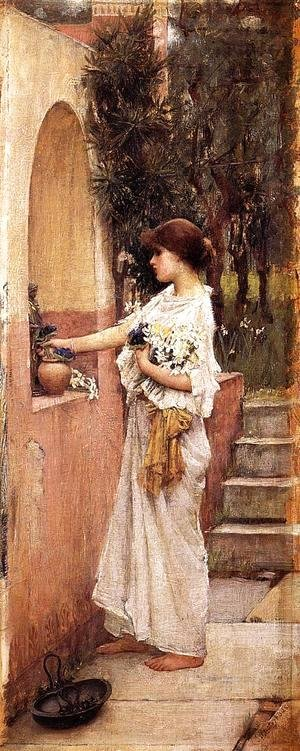Waterhouse - A Roman Offering  1890