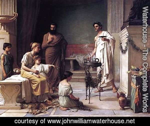 Waterhouse - A Sick Child brought into the Temple of Aesculapius  1877