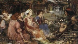 Waterhouse - A Tale from the Decameron study  1916