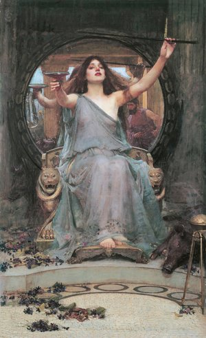 Waterhouse - Circe Offering the Cup to Ulysses  1891