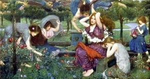 Waterhouse - Flora and the Zephyrs  1898