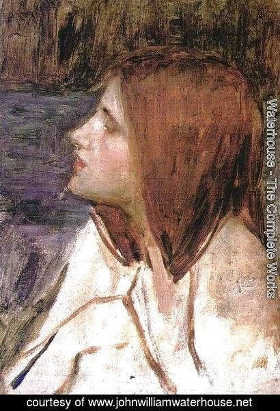 Waterhouse - Head of a Girl  1896