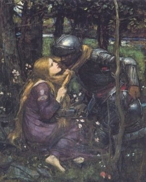 Waterhouse - La Belle Dame Sans Merci study  1893