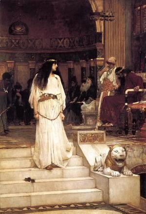 Waterhouse - Mariamne leaving the Judgement Seat of Herod  1887
