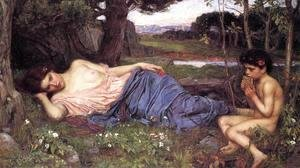 Waterhouse - Listening to My Sweet Pipings  1911