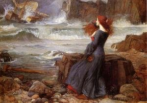 Waterhouse - Miranda - The Tempest  1916