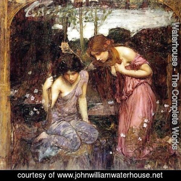 Waterhouse - Nymphs finding the Head of Orpheus  study  1900