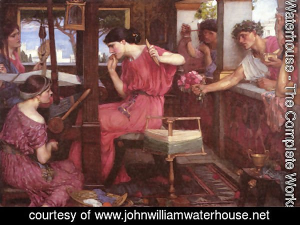 Waterhouse - Penelope and the Suitors  1912