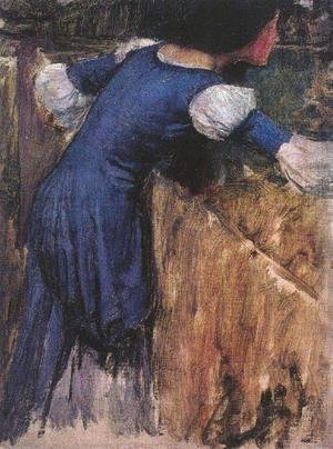 Picking Flowers study 1900