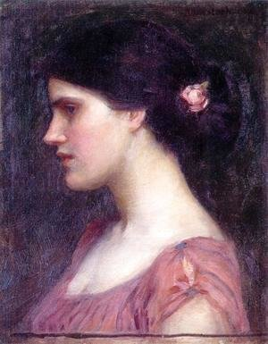 Waterhouse - Portrait of a Girl  1910