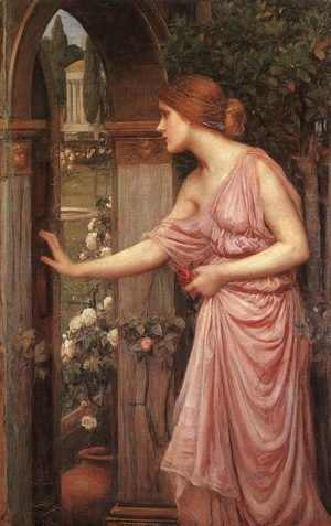 Waterhouse - Psyche Opening the Door into Cupids Garden 1904