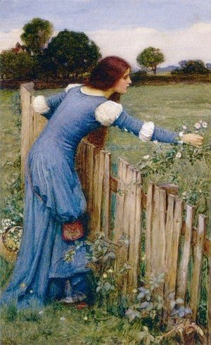 Waterhouse - Spring  The Flower Picker 1900