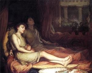 Waterhouse - Sleep and his Half-brother Death  1874