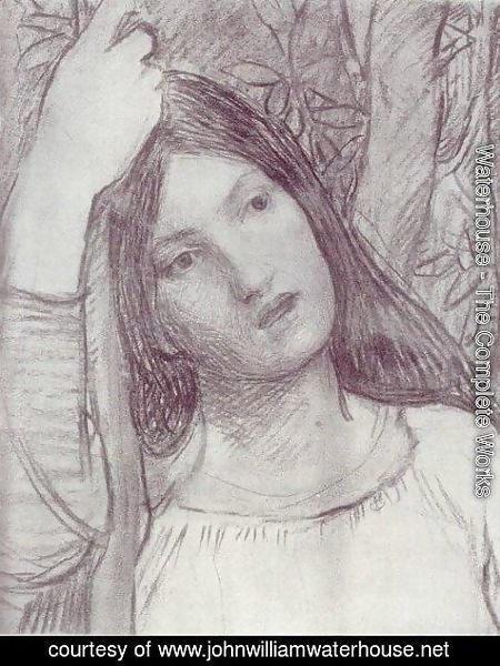 Waterhouse - Study of a Girl  1908