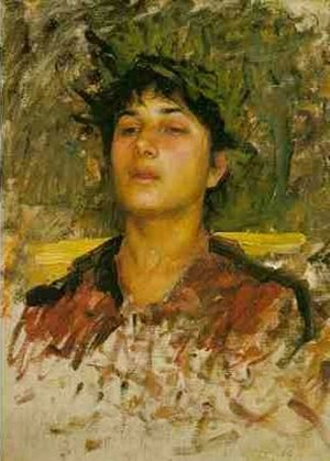 Waterhouse - Study of the Head of a Corsican Boy
