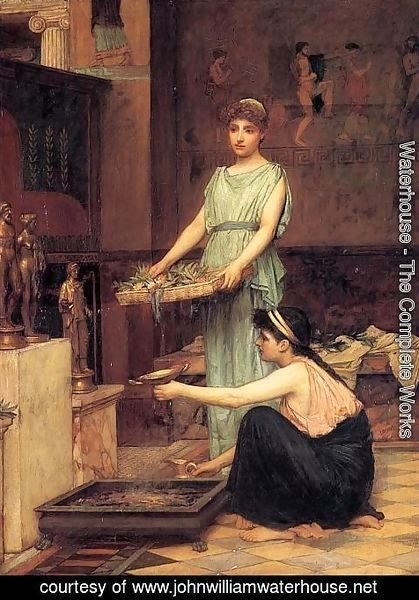 Waterhouse - The Household Gods  1880