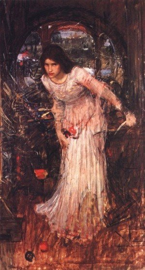 Waterhouse - The Lady of Shalott study  1894
