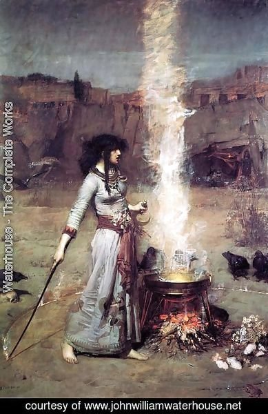 Waterhouse - The Magic Circle  1886