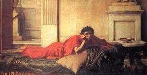 Waterhouse - The Remorse of the Emperor Nero after the Murder of his Mother  1878