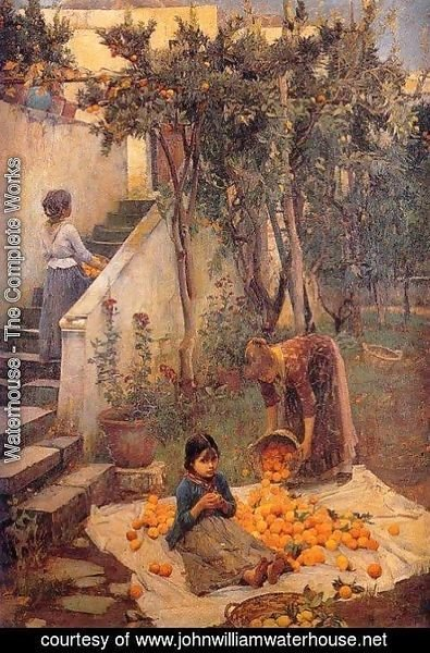 Waterhouse - The Orange Gatherers  1890