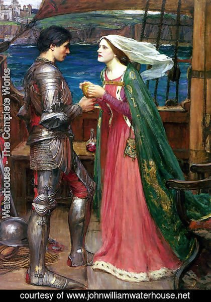 Waterhouse - Tristan and Isolde with the Potion  1916