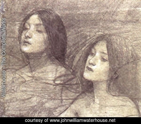 Two Nymphs - study for Hylas and the Nymphs (circa 1896