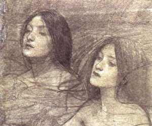Waterhouse - Two Nymphs - study for Hylas and the Nymphs (circa 1896