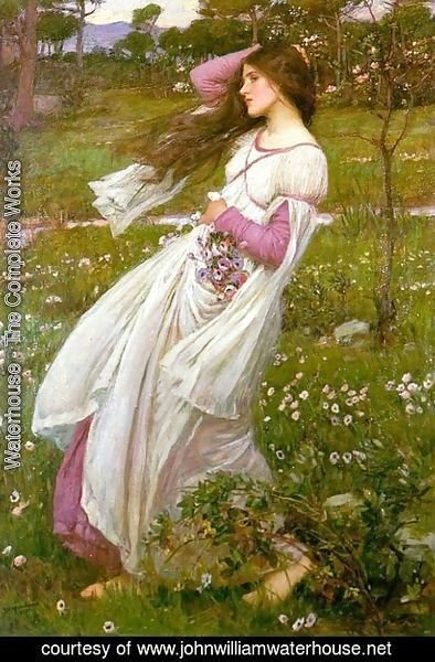 Waterhouse - Windflowers  1903