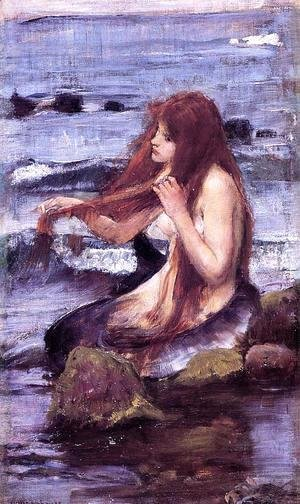 Waterhouse - Sketch for 'A Mermaid'