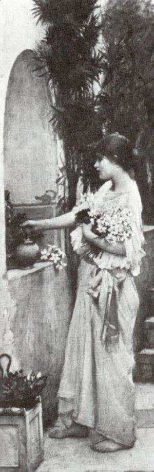 Waterhouse - Arranging Flowers
