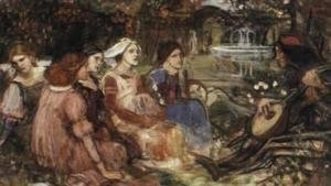 Waterhouse - Study for A Tale from the Decameron