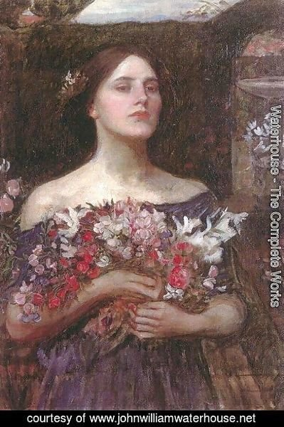 Waterhouse - Study for Gather Ye Rosebuds