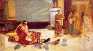 Waterhouse - Study for The Favourites of the Emperor Honorius