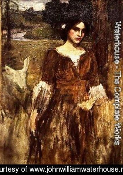 Waterhouse - Study for The Lady Clare 2