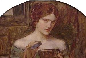 Waterhouse - Study for The Love Philtre