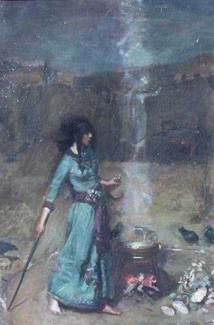 Waterhouse - Study for The Magic Circle