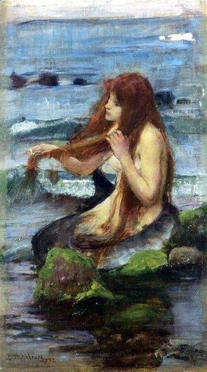 Waterhouse - Study for The Mermaid
