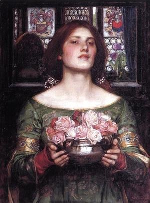 Waterhouse - Woman with roses
