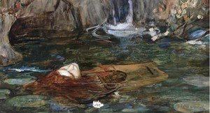 Waterhouse - Study For Nymphs Finding The Head Of Orpheus